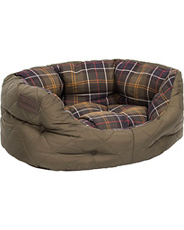 Barbour Heritage Quilted Dog Bed 18' Olive
