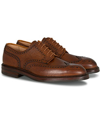Crockett & Jones Pembroke Derbys Tan Grained Calf