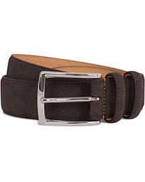 Suede 3,5 cm Belt Dark Brown