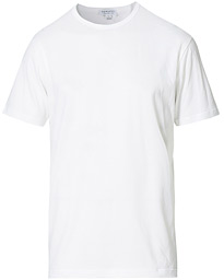 Sunspel Crew Neck Cotton Tee White