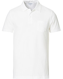 Sunspel Riviera Polo Shirt White