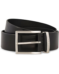 BOSS Buddy Leather Jeans Belt 4 cm Black