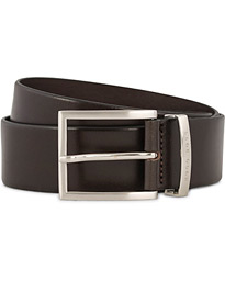 BOSS Buddy Leather Jeans Belt 4 cm Medium Brown