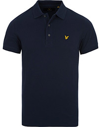 Plain Pique Polo Shirt Navy