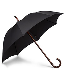 Fox Umbrellas Polished Cherrywood Solid Umbrella Black
