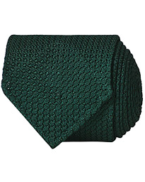 Drake's Silk Grenadine Handrolled 8 cm Tie Green