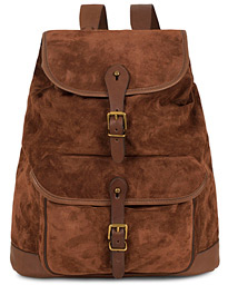 4dc220ccbf29 ... Polo Ralph Lauren Suede Backpack Brown