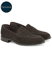 competitive price 3d5c2 ff4ed Loake 1880 MTO Whitehall Dainite Penny Loafer Brown Suede