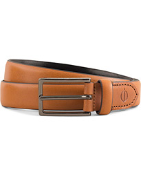 Leather 2,5 cm Belt Mid Brown