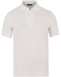 John Smedley Adrian Slim Fit Sea Island Polo White