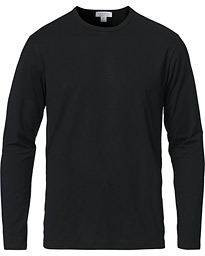 Long Sleeve Crew Neck Tee Black