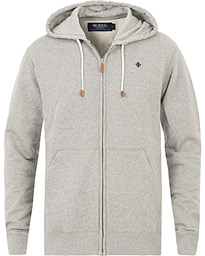 Morris Full Zip Hoodie Light Grey Melange