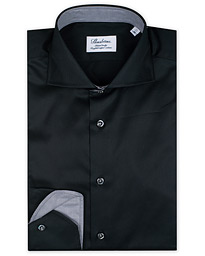 Fitted Body Contrast Shirt Black