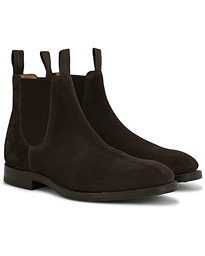 Loake 1880 Chatsworth Chelsea Boot Dark Brown Suede