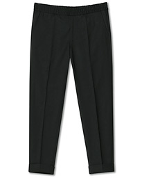 Filippa K Terry Gabardine Cropped Turn Up Trousers Black