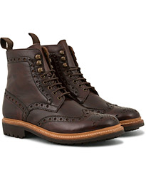 Fred Brogue Boot Commando Sole Brown Calf