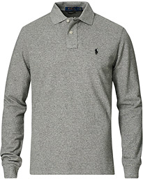 Core Fit Long Sleeve Polo Canterbury Heather