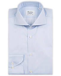 Fitted Body Thin Stripe Shirt White/Blue