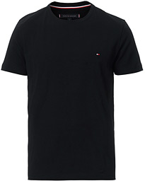 Slim Fit Stretch Crew Neck Tee Flag Black