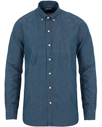 A Day's March Button Down Denim Shirt Washed Blue