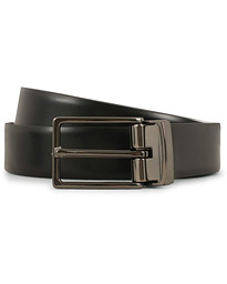 Oscar Jacobson Reversible Leather Belt 3 cm Black/Dark Brown