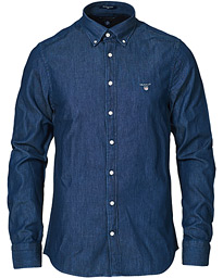 GANT Slim Fit Denim Shirt Dark Indigo