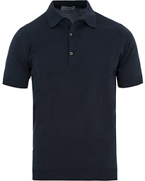 John Smedley Adrian Slim Fit Sea Island Polo Navy