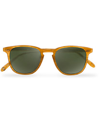 Garrett Leight Brooks 47 Sunglasses Butterscotch/Green Polarized