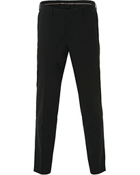 Malthe Wool Stretch Trousers Black