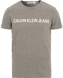 Calvin Klein Jeans Basic Institutional Logo Crew Neck Tee Grey Heather
