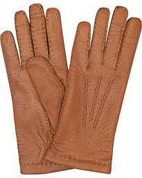 Peccary Handsewn Cashmere Glove Cognac