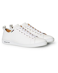 designer fashion 6e376 052c4 PS Paul Smith Miyata Leather Sneaker White