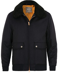Wool Flight Jacket Navy
