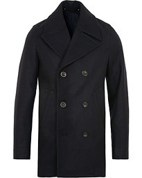 Private White V.C. Wool Melton Peacoat Navy