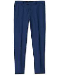 Oscar Jacobson Denz Wool Trousers Blue