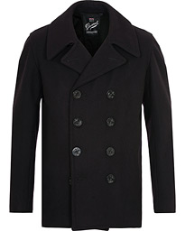 Gloverall Twopocket Reefer Peacoat Navy