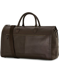 Oscar Jacobson Leather Weekendbag Dark Brown