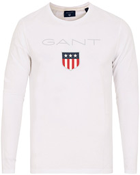 GANT Shield Long Sleeve Tee White