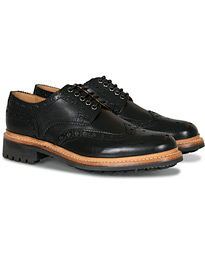 Archie Commando Derby Brogue Black Calf
