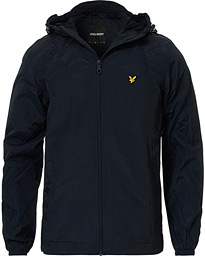 Zip Through Hooded Jacket Dark Navy