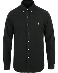 Polo Ralph Lauren Slim Fit Garment Dyed Oxford Shirt Black 3779dbf97c659