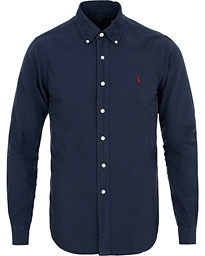 Polo Ralph Lauren Slim Fit Garment Dyed Oxford Shirt Navy 22fbad322686e