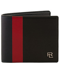 Ralph Lauren Purple Label Leather Striped Billfold Wallet Red/Black