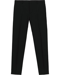 Wool Stretch Trousers Black
