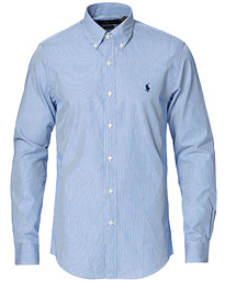Polo Ralph Lauren Slim Fit Thin Stripe Poplin Shirt Blue White 6abbbedc0d7f1