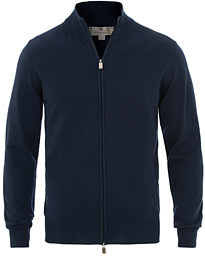 Canali Cotton Full Zip Navy