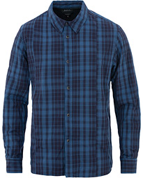 A.P.C Decalee Check Shirt Jacket Blue Fonce e0e87cc7dbd69