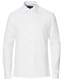 Slim Fit Jersey Button Under Shirt White