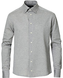 Slim Fit Jersey Button Under Shirt Grey