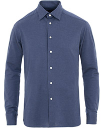 Slim Fit Jersey Button Under Shirt Blue